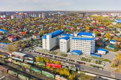 Building of tax inspection. Tyumen. Russia - stock photo