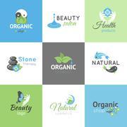 Beauty Design Logos Stock Illustration