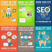 Stock Illustration of Web Poster Set