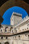 Avignon - View on Popes Palace, Provence, France - stock photo