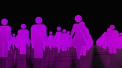 Male female crowd people icons business team sexes gender 4K Stock Footage