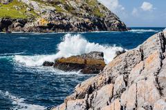 Breakwater at Dursey Sound - stock photo