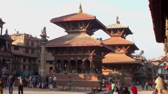 The Durbar Square in Patan, Nepal Stock Footage