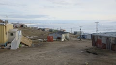Cityscape of the township of Pond Inlet. Stock Footage