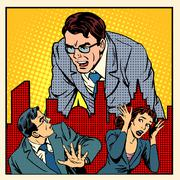 boss anger work office business concept - stock illustration