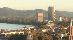 Bonn and the river Rhine. Germany Stock Footage