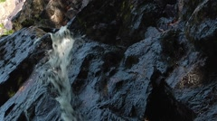 Small waterfall in Luskville Falls Trail, Gatineau. Stock Footage