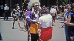 1953: Knott's Berry Farm Indian Village amusement park. Stock Footage
