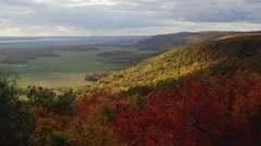 View of the Gatineau Hills from Champlain Lookout. Stock Footage
