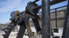 A winch in a set of locks on the Rideau Canal. Stock Footage