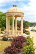 Rotunda in the park - stock photo