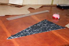 Cloth pattern in atelier Stock Photos