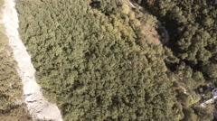 Bakhchisarai. Canyon Chufut-Kale. Slow moving. Stock Footage