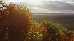 View of the Ottawa/Gatineau countryside from Champlain Lookout. (Pan) Stock Footage