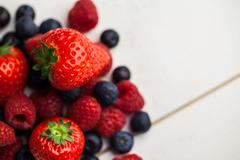 Fresh berries in close up - stock photo