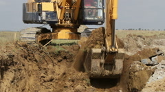Stock Video Footage of Crawler excavator at work
