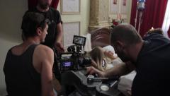 Stock Video Footage of The backstage of the filming of the erotic movie