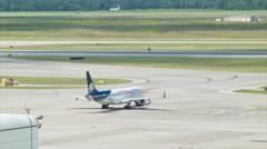 Stock Video Footage of Aeroméxico Connect Embraer ERJ-190 at Houston Bush Airport