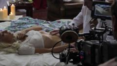 Stock Video Footage of The actress starred in the erotic movie scene