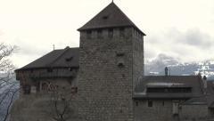 Liechtenstein Vaduz Castle tilt 4K Stock Footage