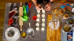 Chef preparing dessert  Stock Footage
