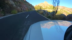 Driving in mountains of Teide national park Stock Footage