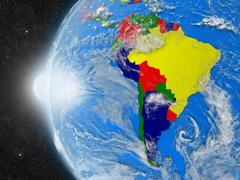 South american continent from space Stock Photos
