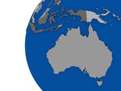 Stock Illustration of Australian continent on political globe