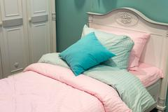 Detail of bedrooms for  girls Stock Photos