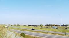 Multi-Lane Expressway Traffic Stock Footage