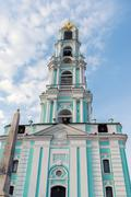 Stock Photo of Sergiev Posad, Russia - March 28, 2015. Belfry in the territory of St. Sergiu