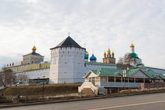 Monastery in Sergiev Posad in Russia. It was built in the 14th century - stock photo