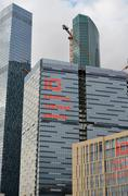 MOSCOW. RUSSIA - MAY 23.2015. The Moscow International Business Center. MIBC  - stock photo