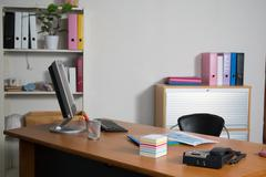 Empty business office, modern and bright Stock Photos