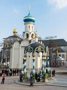 Stock Photo of Sergiev Posad, RUSSIA-MARCH, 15, 2012. Monastery in a Sergiev Posad in the Mo