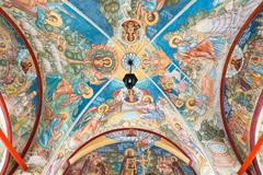 MOSCOW, RUSSIA - MARCH 9, 2014: Interior of the temple of the Annunciation, w Stock Photos
