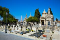 Valencia city municipal cemetery at Spain - stock photo