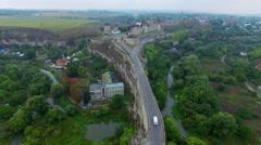 Aerial: Old castle in Kamenetz-Podolskiy, Ukraine. Stock Footage