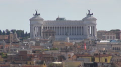 Zoom out National Monument building Rome skyline amazing old town architecture  Stock Footage