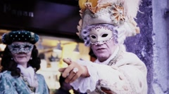 Participant in The Carnival of Venice - stock footage