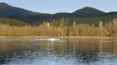 Banyoles lake Stock Footage