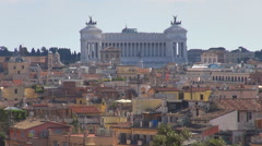 Timelapse amazing National Monument silhouette Rome skyline traditional facade  Stock Footage