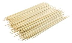 Kitchen Utensils, Pile of Wooden Sticks or Bamboo Skewers Used to Hold Pieces Stock Photos