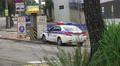 Police Car On The City Streets Seoul South Korea Footage
