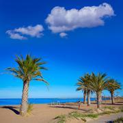 Stock Photo of Denia beach in Alicante in blue Mediterranean