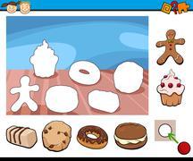 cartoon kindergarten game - stock illustration