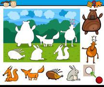 kindergarten cartoon game - stock illustration