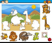 educational preschool game cartoon - stock illustration