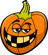 jack lantern cartoon - stock illustration