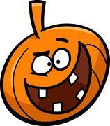 Stock Illustration of halloween pumpkin cartoon illustration